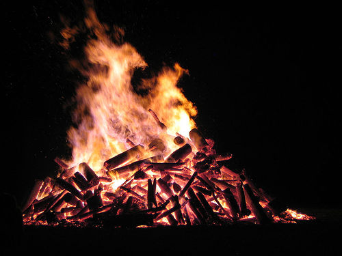 Photo de feu de joie